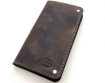 Mens Wallet Distressed Brown Custom Long Full Size Mens Leather Wallet Gift Ideas For Him Minimalist Wallet Leather Wallets For Men