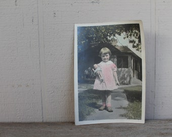 Antique Photograph of Little Girl