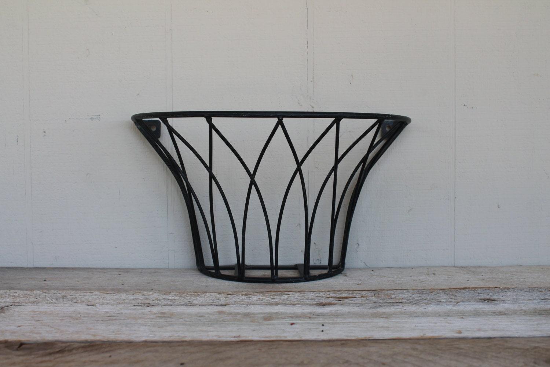 vintage metal wall planter. Black Bedroom Furniture Sets. Home Design Ideas