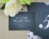 Chalkboard Blooms Wedding Tented Place Cards (Set of 10)