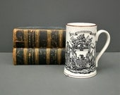 A handsome large tankard by Grays Pottery, England dating to the 1950's - The Shipwright's Arms