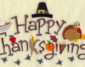Happy Thanksgiving - Fall  Embroidered Womens Regular or Plus Size Sweatshirt sizes Small to 3x