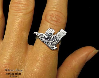 Pelican Ring Sterling Silver
