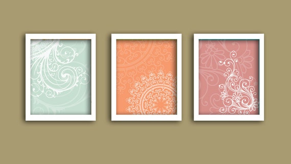 Items similar to beautiful art indian pattern prints for Modern home decor items india