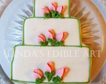 Romantic Rosebud Wedding Cake (1 Dozen)