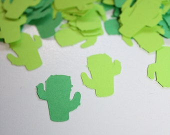 Cactus Die Cut Confetti Table Decor 200 pieces