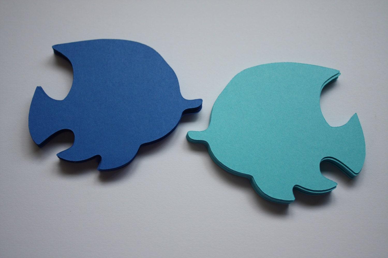 18 X Tropical Fish Die Cuts Blues