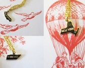 Choose Your State - Gold Plated Charm Necklace