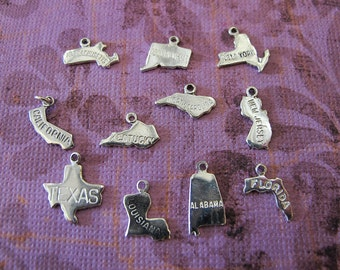 Choose Your State - Sterling Silver Charm ONLY