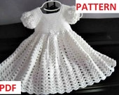 Crochet Pattern: Infant Baptism, Blessing, Christening Gown Instant Download GC107