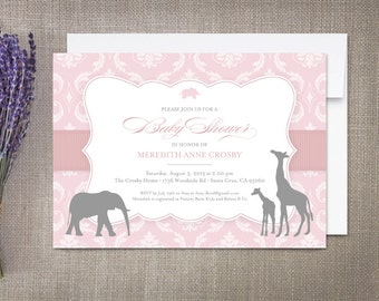 Baby Shower Invitations, Vintage Safari