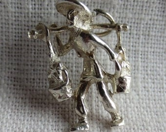 FAR EAST FARMER Sterling Silver Charm or Pendant