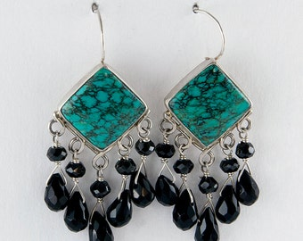 Turquoise Dynasty Earrings
