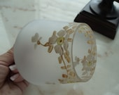 Antique Handpainted Glass Globe  //Light replacement // cover // shade // 420