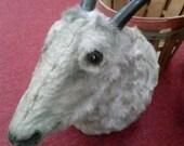 Vintage Faux Goat Head Taxidermy