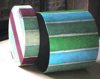 Hat Box - Striped