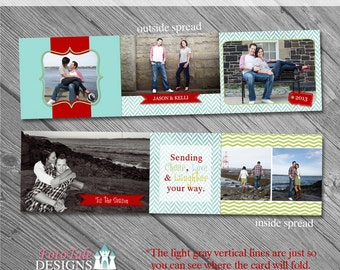 INSTANT DOWNLOAD Believe 4.25x5.5 Accordion Card- custom photo templates for photographers on Miller's Lab Specs