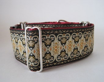 2 inch Martingale Collar, Christmas Martingale Collar, Jacquard Martingale Collar, Jacquard Dog Collar, Greyhound Collar, Sighthound Collar