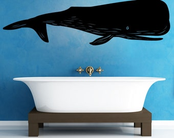 Vinyl Wall Decal Sticker Whale OS_MB1102s