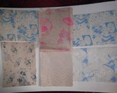 Vintage 1940s 1950s Wrapping Gift Paper 6 Full Sheets Wedding Bridal Scrapbooking Art Crafts