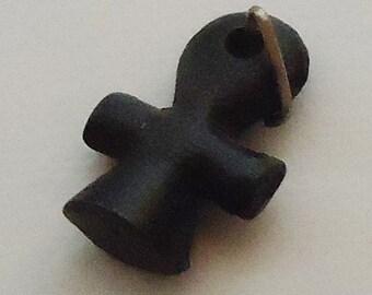 Black Crux Pendant. Vintage.70s