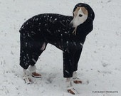 Snoodyj's - Standard Fleece Body Suit with Head Covering Cowl for Italian Greyhounds and all small dogs.