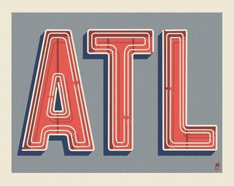 ATL 11 x 14 silkscreen