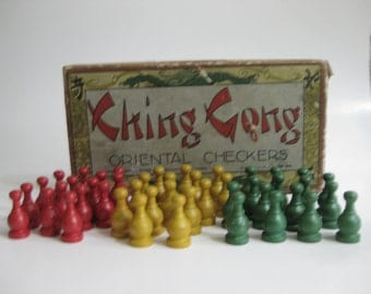 Vintage Ching Gong / Oriental Checkers