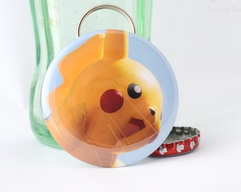 Pikachu Bottle Opener/Keychain Combo-close up