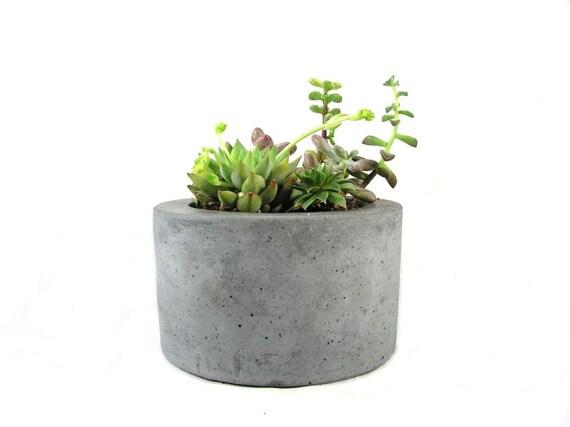 Round Concrete Planter