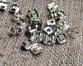 100pcs Stainless Steel Earwire Nuts Stopper Earnuts 316 Stainless Steel Small