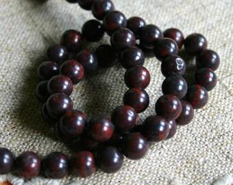 66pcs Natural Gemstone Beads Brecciated Jasper 6mm 16 Inches