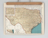 1930s Antique State Maps of Texas and South Dakota