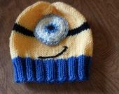 Knit Yellow Minion Hat - Child's