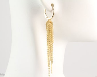 Aria Earrings, 18kt Yellow Gold, AC0721-18YG by Ashley Childs