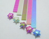Autumn Breeze - Pearlescent Origami Lucky Star Paper Strips - flat pack of 80 strips
