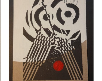 Comrad Owl Constructivist Post Card