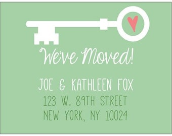 We've Moved Postcards - moving postcards, change of address cards, housewarming gift, forwarding address