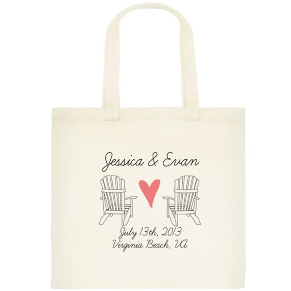 Items Similar To Beach Wedding Tote Bags Wedding Bags Beach Bag Welcome Bags Bridesmaid Gift
