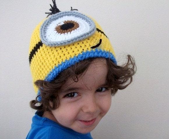 Minion Hats Crochet Baby Yellow Minion Hat-halloween