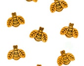 Jesse James Button Embellishments Themed Novelty Buttons Bees Gold Black Bumble Bee Honey