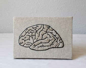 Hand-Embroidered Brain