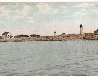 Boston Harbor Lighthouse - Massachusetts Coastal Decor