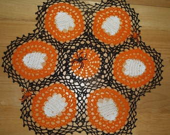Halloween Ghosts Crochet Doily Pattern