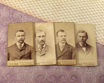 Vintage Photographs - Men with Mustaches - Carte de Visite Four Photos ~ vestiesteam epsteam thebestvintage