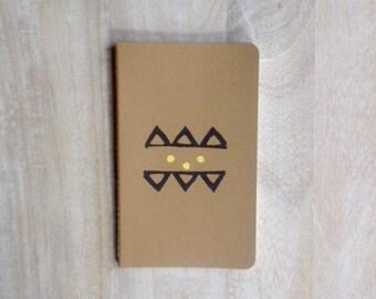 Tribal and geometric hand printed large notebook journal boho organizer