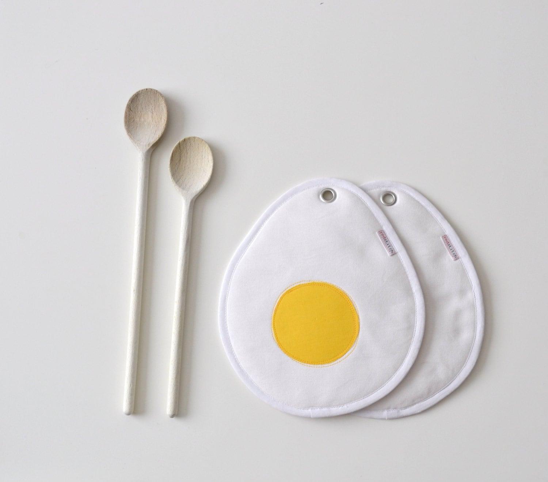 Boiled Eggs Potholders Easter Hostess Gift Potholder Egg