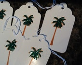 Palm Tree Gift Tags - Handmade