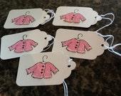 Baby Girl Gift Tags - Handmade