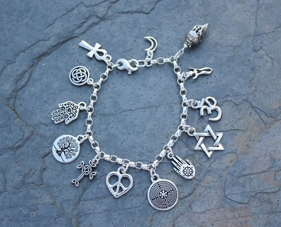 Anklet or women 39 s plus size peace silver by rowanoliviajewelry for Plus size jewelry bracelets